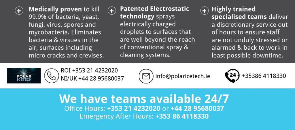 Polar IceTech Dry Disinfection Electrostatic Touchless Service